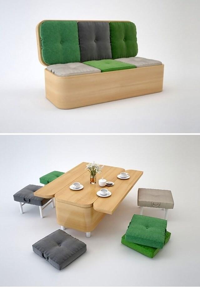 Móveis para espaços pequenos