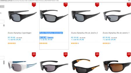 e9a8992290786 Netshoes está com descontos de até 77% em óculos de sol de várias marcas