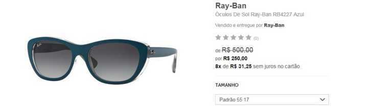 50a278daa139f Black Friday  óculos de sol Ray Ban com até 50% de desconto