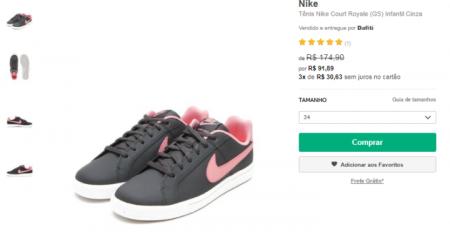 24caaaca91683 Calçados e roupas da Nike têm desconto de até 60% em loja virtual