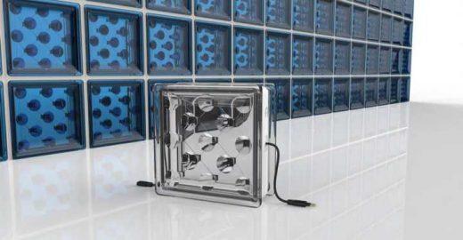 Bloco de vidro usado em construção civil produz energia solar