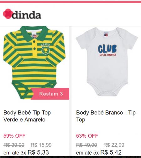 dd86633e2bd Moda bebê e infantil da Tip Top com mais de 50% OFF em site