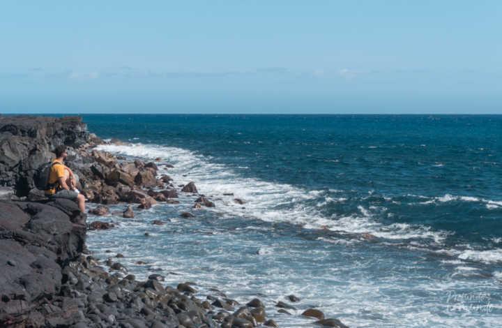 Black Sand Beach, em Big Island (Havaí, EUA)