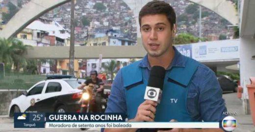 Gato aparece andando de moto durante reportagem da Globo