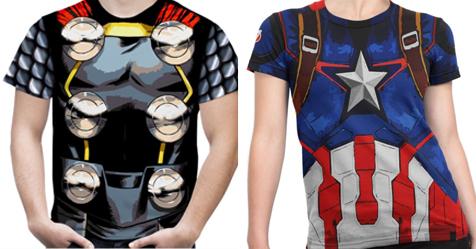 Caia na folia: Camisetas dos Vingadores por menos de R$ 50
