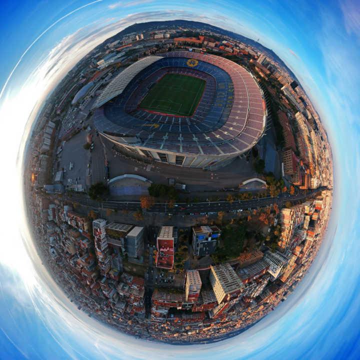 O mítico estádio Camp Nou, casa do FC Barcelona