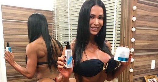 Gracyanne Barbosa choca fãs ao anunciar produto em pose inusitada