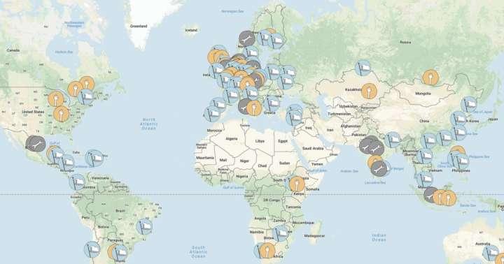Mapa ajuda a localizar os recicladores