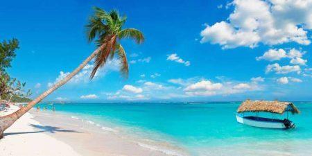 Praia em Punta Cana, na República Dominicana