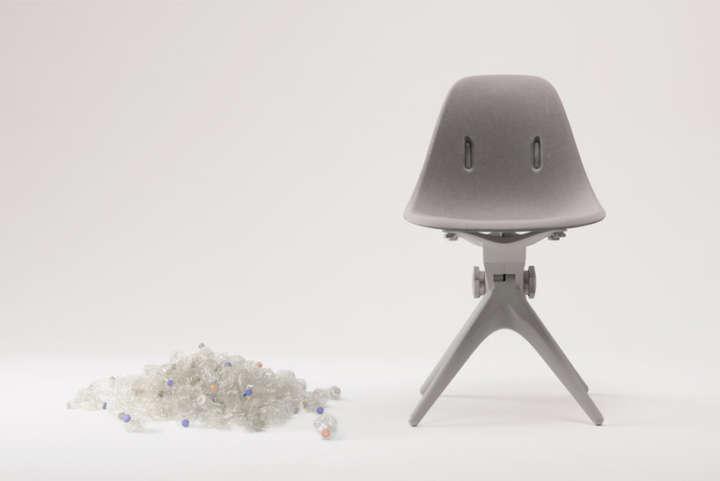 Pentatonic reutiliza garrafas de plástico na produção de estofados de cadeiras