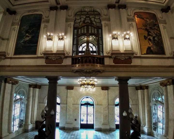Detalhe do interior do Theatro Municipal