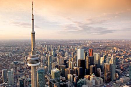 Vista de Toronto, no canadá