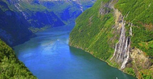 Noruega: Geiranger tem cachoeiras gigantes e paredões de 1.700 m