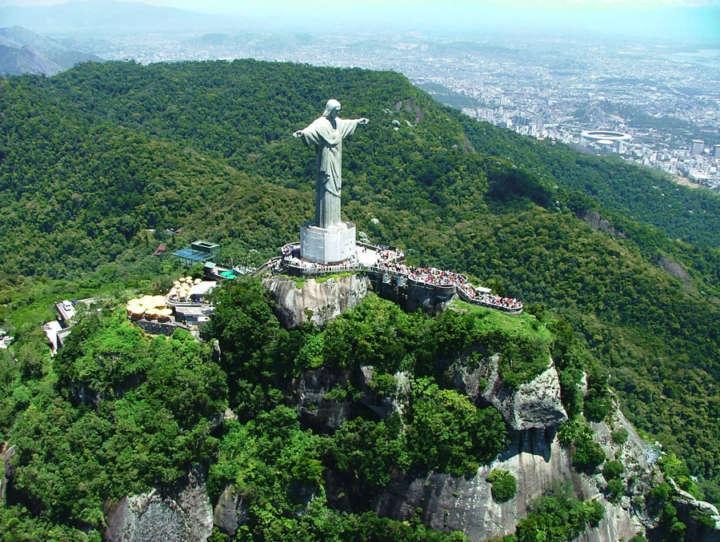 Vista do Cristo Redentor, no Parque Nacional da Tijuca