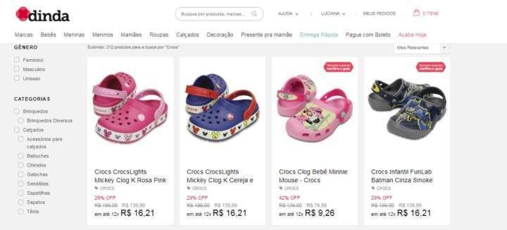 7b4d555f6845 Crédito  VanessaDinda vende Crocs com mais de 60% de desconto até 15 de  abril