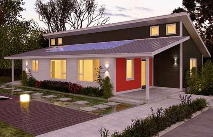 O aproveitamento da luz natural é uma das características dessa casa econômica