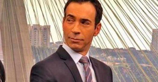 Cesar Tralli compara muque ao de fortão da Globo