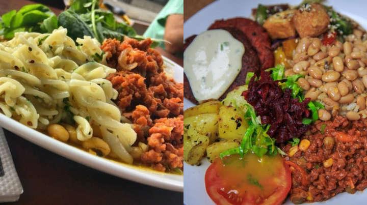 No cardápio há desde versões veganas para pratos como feijoada, paella, almôndegas e moqueca, até legumes refogados e massas como o espaguete ao sugo