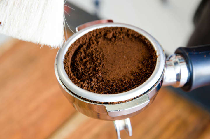 Peeling com borra de café