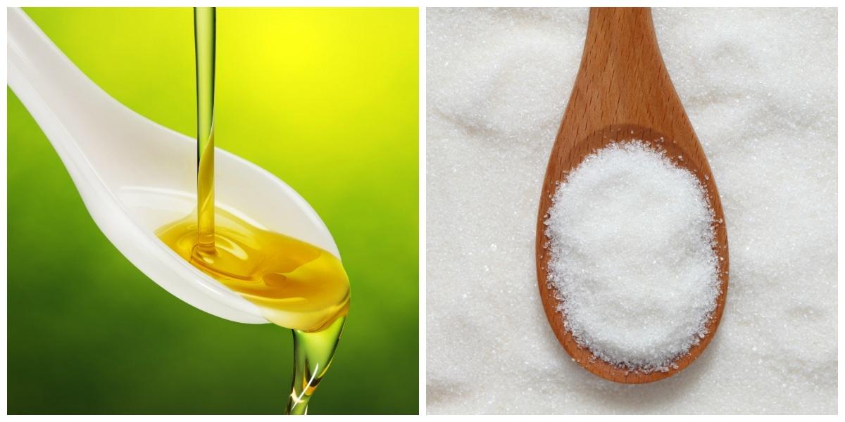 Azeite e açúcar