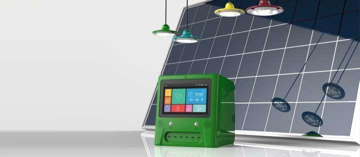 No monitor de 10 polegadas do zeroXess, que funciona com energia solar e tem autonomia de 28 horas, pode-se controlar várias funções