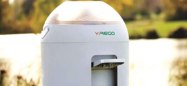 A máquina de lavar movida a pedal dá conta de 2 kg de roupa em 5 minutos