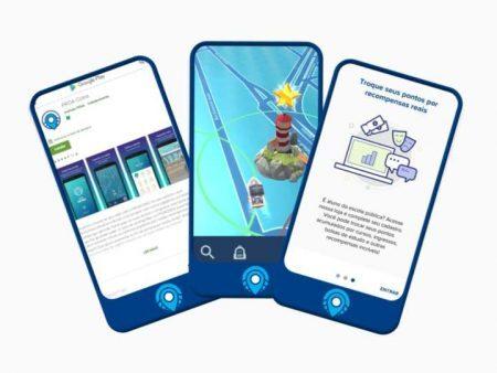 Smartphones com jogos na tela