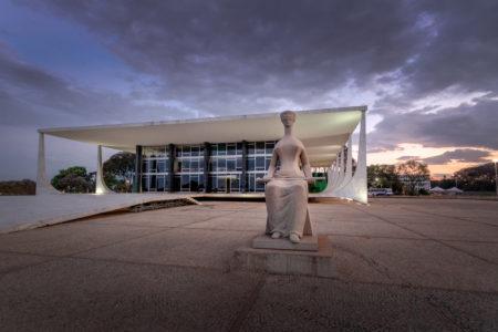 fachada do Supremo Tribunal Federal do Brasil, em Brasília
