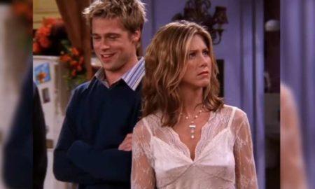 Jennifer Aniston e Brad Pitt em cena de Friends