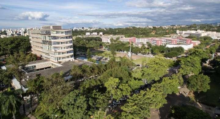 Vista aérea da Universidade Federal de Minas Gerais