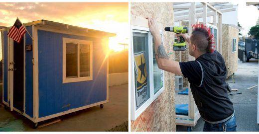 Minicasas móveis viram abrigo para moradores de rua