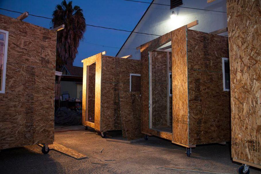 As casas trazem esperança de um recomeço para os sem-teto