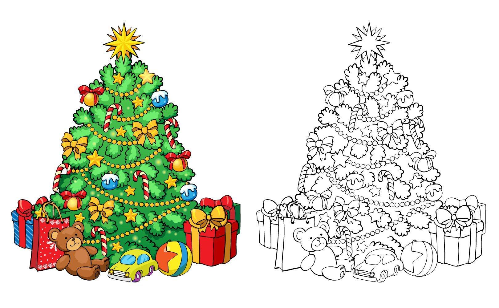 Faca Voce Mesmo Arvore De Natal Gigante Para Colorir