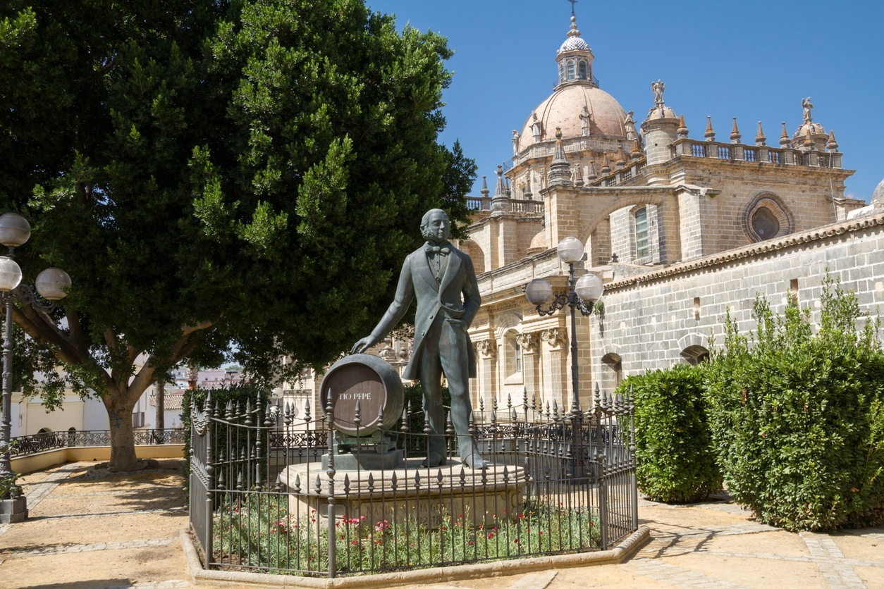 Estátua de Manuel Maria Gonzalez Angel, fundador da Gonzalez Byass