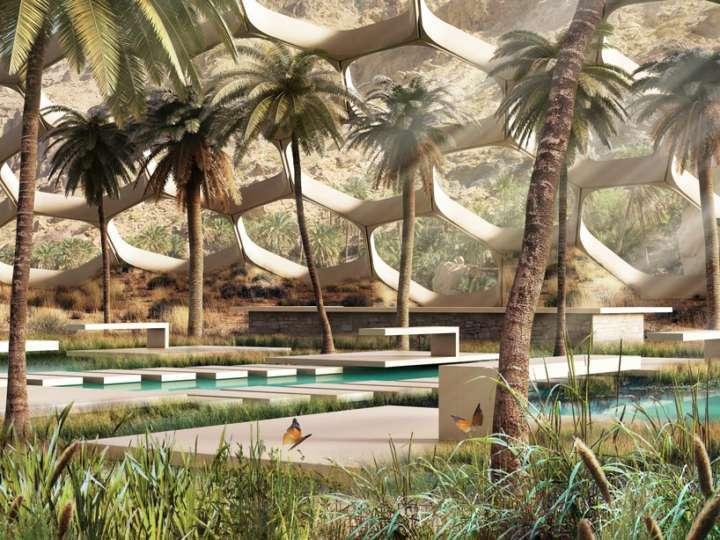 O interior de cada biodome oferecerá conforto térmico, mas também a sensação de fazer parte da paisagem lá fora