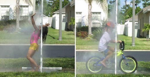 Muito calor? Aprenda a simular uma chuva no quintal