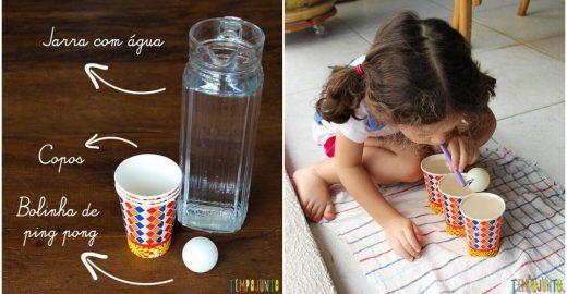 Brincadeira de 1 minuto: aprenda e adote em casa, com os pequenos