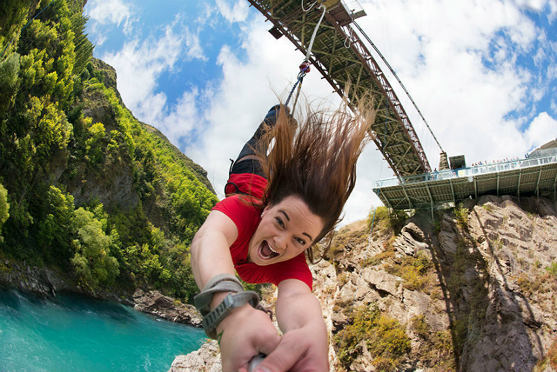 Bungy Jump na ponte Kawarau
