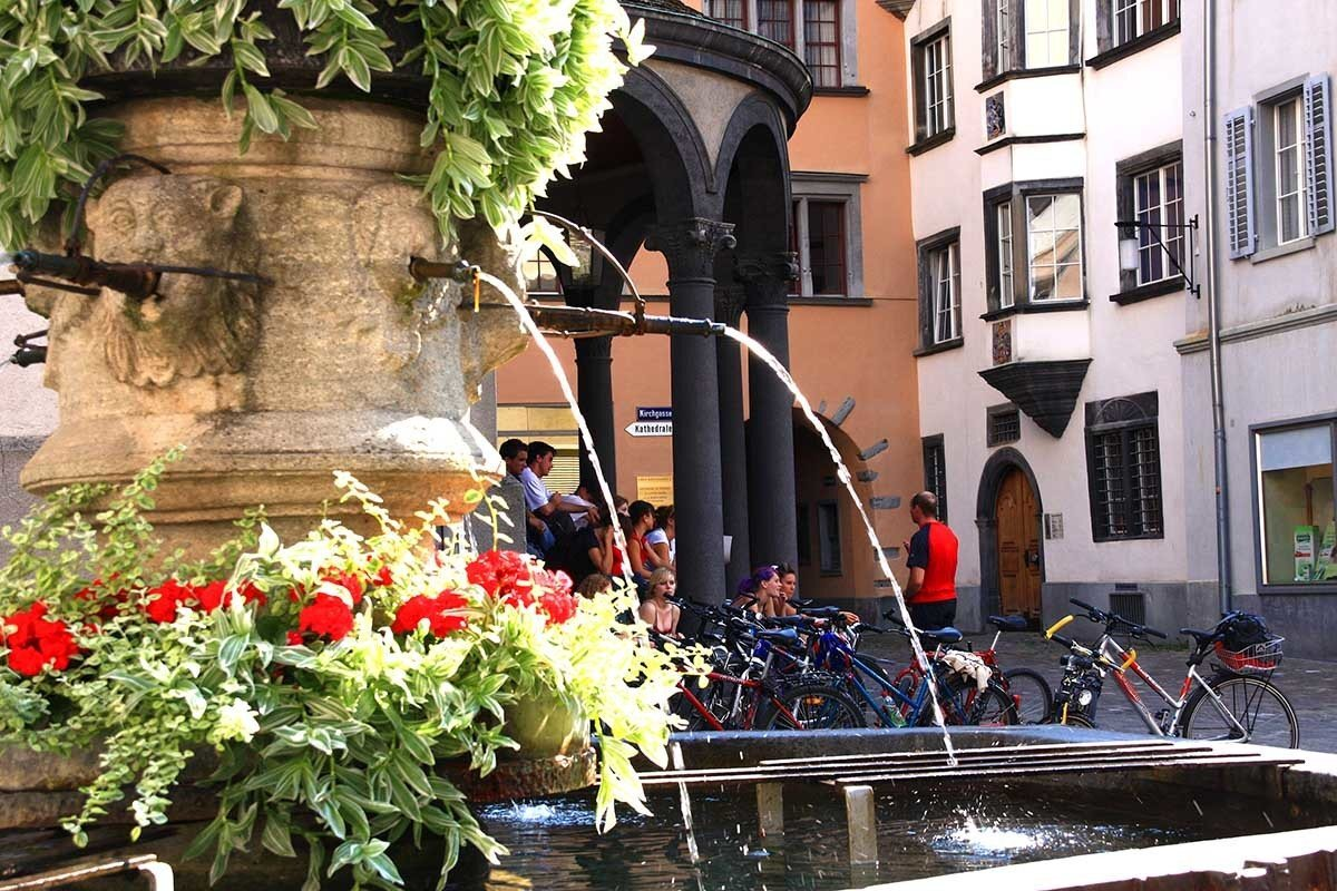 Vista do Centro histórico de Chur, na Suíça