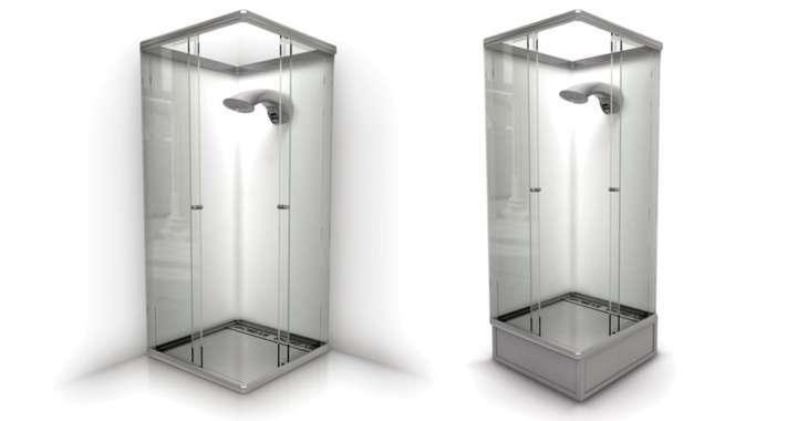 O chuveiro econômico inteligente Showeair reutiliza a água que escorre pelo ralo
