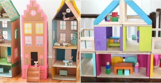 20 lindas casas de boneca de sucata que qualquer um pode fazer