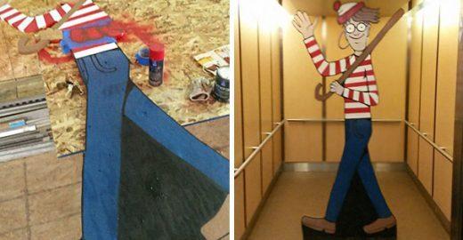 Wally escondido em construção vizinha anima crianças de hospital