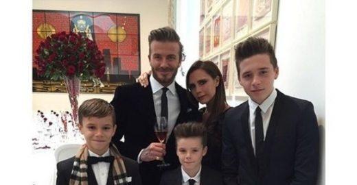 Com 5 e 12 anos filhos de David Beckham vão à academia