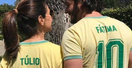 <mark class='searchwp-highlight'>Fátima Bernardes</mark> e Túlio Gadêlha trocam camisas em dia de jogo