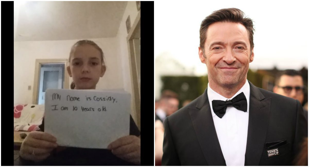 Garota vítima de bullying recebe linda mensagem de Hugh Jackman