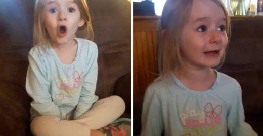 Menina tem reação incrível ao saber que vai ver 'A Bela e a Fera'