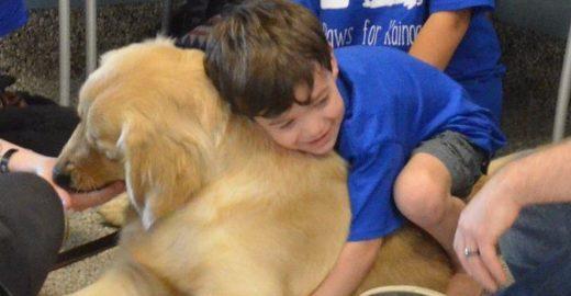 Cães ajudam na inclusão de crianças com autismo