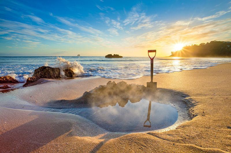 Praia de Hot Water