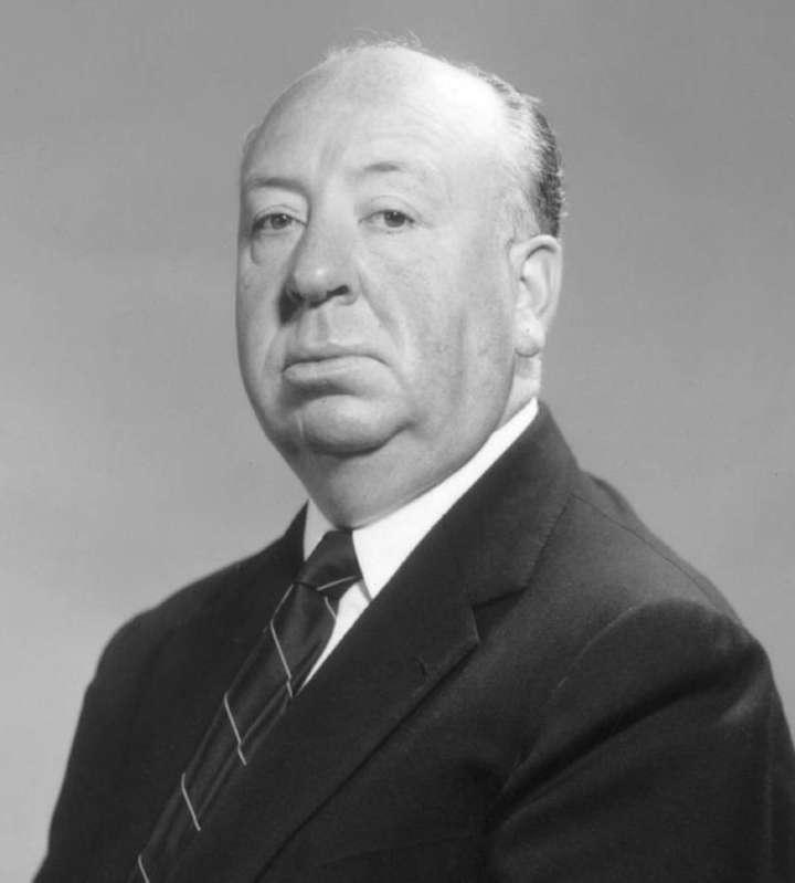 Retrato de Alfred Hitchcock