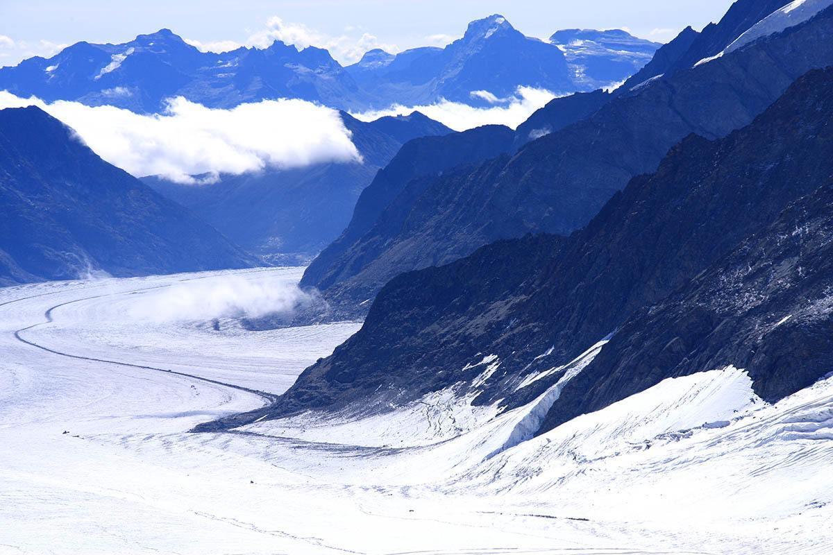Vista do Glacial Aletsch